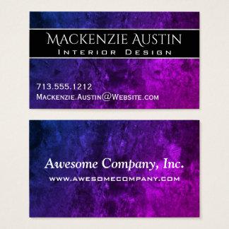 Chic blått purpurfärgade rosa Ombre för Visitkort
