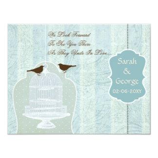 Chic blåttfågelbur, love birdsOSA 10,8 X 14 Cm Inbjudningskort