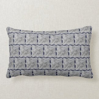Chic design för blått- och gråttland lumbarkudde