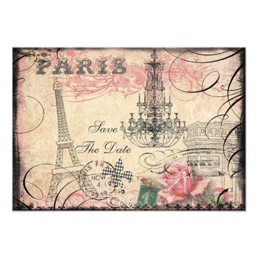 Chic Eiffel torn- & ljuskronaspara datera Personliga Tillkännagivande