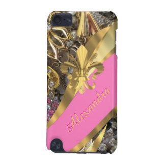 Chic elegantt guld och bling personlig för rosor iPod touch 5G fodral