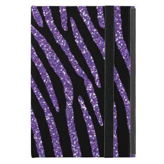 Chic elegantt tryck för sebralilaglitter iPad mini cover