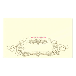 Chic eskortkort 1 för vintage set av standard visitkort