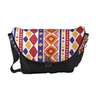Chic färgrikt Ethno mönster Messenger Bag