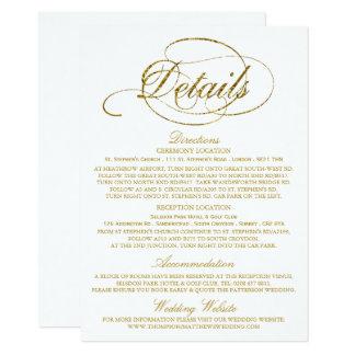 Chic Fauxguld omkullkastar bröllop specificerar 11,4 X 15,9 Cm Inbjudningskort