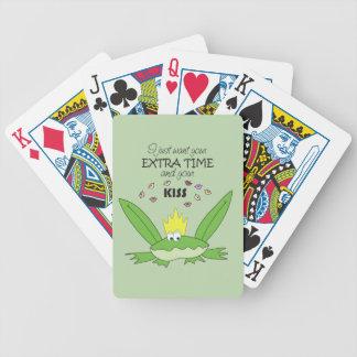Chic för sång för kärlek för grodaPrince Kyssa Spelkort