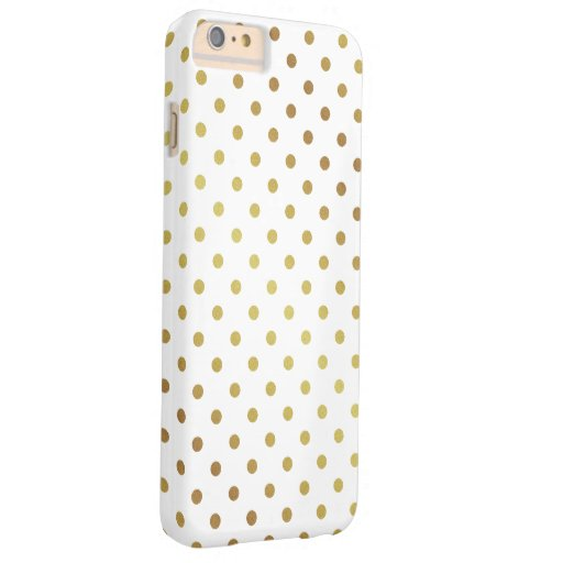 Chic glitterpolka dots - guld och chic barely there iPhone 6 plus fodral