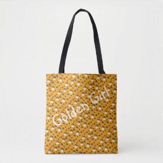 Chic guld- Dots hänger lös för strand eller Tygkasse