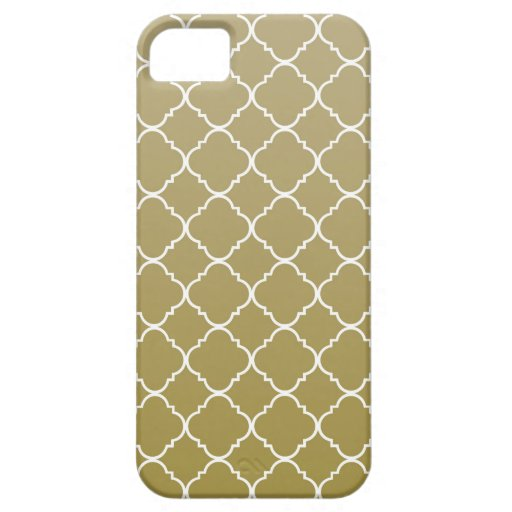Chic guld- Quatrefoil iPhone 5 Hud