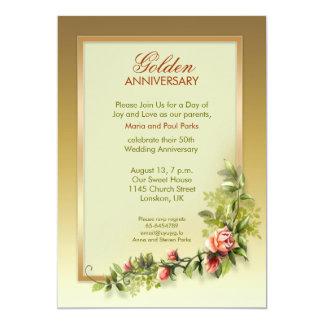 chic guldbröllopårsdag - 50 12,7 x 17,8 cm inbjudningskort