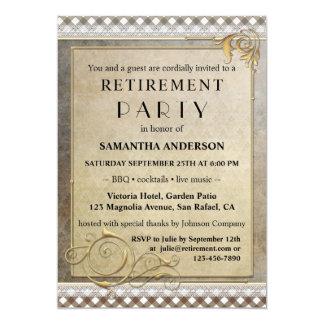 Chic inbjudan för party för Gatsby BBQ-pension