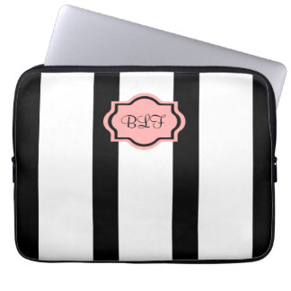 CHIC IPAD SLEEVE_04 RODNA PINK/WHITE/BLACK LAPTOP DATORSKYDD
