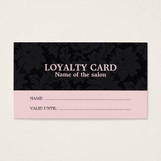 Chic kort för lojalitet för salong för hår för