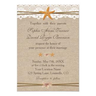 Chic lantlig inbjudan för bröllop för