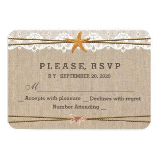 Chic lantligt bröllop OSA för 8,9 X 12,7 Cm Inbjudningskort
