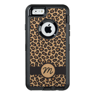 Chic LeopardMonogram OtterBox Defender iPhone Skal