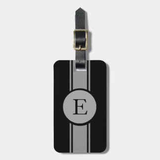 CHIC LUGGAGE/BAG TAG_252 GRAY/BLACK/MONOGRAM BAGAGE ETIKETTER