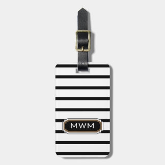 CHIC LUGGAGE/BAG TAG_39 BROWN/BLACK/WHITE BAGAGEBRICKA