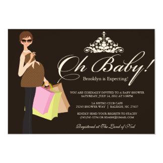Chic mammababy showerinbjudan 12,7 x 17,8 cm inbjudningskort