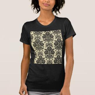 Chic moderiktig blommigt för lantlig svart t shirts