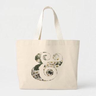 Chic & modern stor toto för daisyet-tecken   jumbo tygkasse