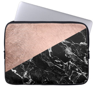 Chic modernt rosa kvarter för färg för laptopskydd fodral