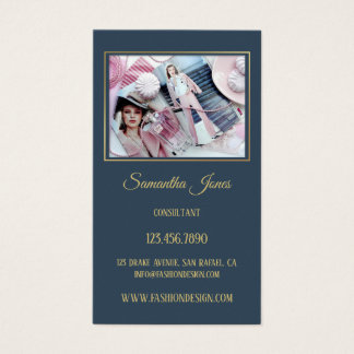 Chic modevisitkort för beställnings- foto visitkort