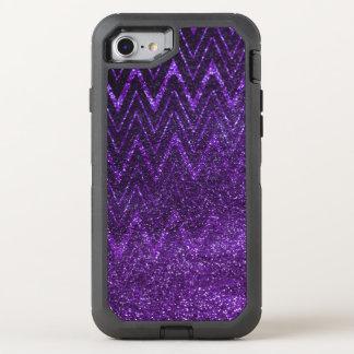 Chic mönster för sparre för lilaglitterlutning OtterBox defender iPhone 7 skal