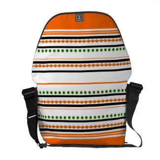 """Chic orange mönster """"för tävlings- rand"""" messenger bag"""