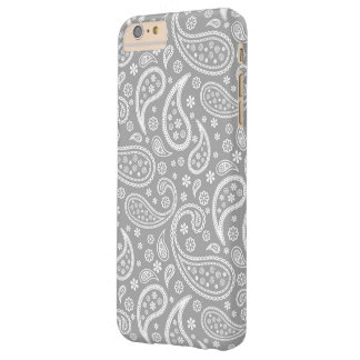 Chic Paisley stilfull grå färgblommönster Barely There iPhone 6 Plus Fodral