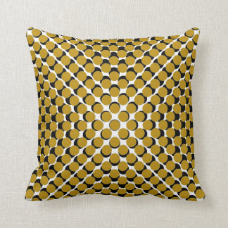 CHIC PILLOW_190 MODERNA SENAPSGULTT /BLACK PRICKER KUDDE