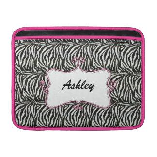 chic rosa elegans för zebra ränder MacBook air sleeve