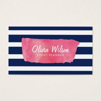 Chic rosa massmedia för akvarell- & visitkort