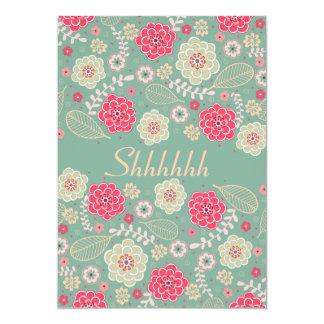 Chic skraj modern blommigt för 12,7 x 17,8 cm inbjudningskort