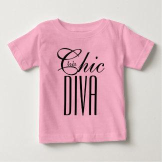 """CHIC TEXT för TODDLER_BLACK för chic DIVA för T_ """" T Shirt"""