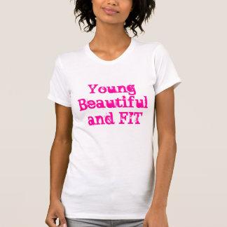 Chic trendiget, genomkörare utrustar t-shirts