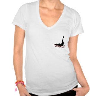 Chic V-nacke T-tröja T-shirt