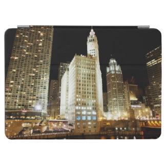 Chicago berömd landmark på natten iPad air skydd