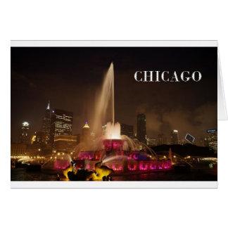 CHICAGO Buckingham fontän (St.K) Hälsningskort