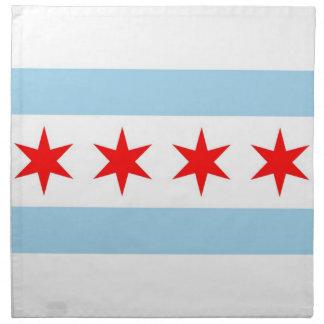 Chicago flagga, Illinois statlig amerikanMoJo Tygservett