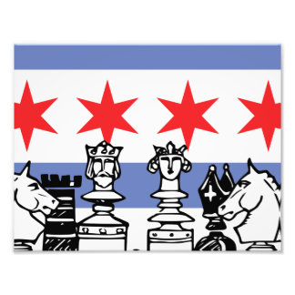 Chicago flaggaschack fototryck