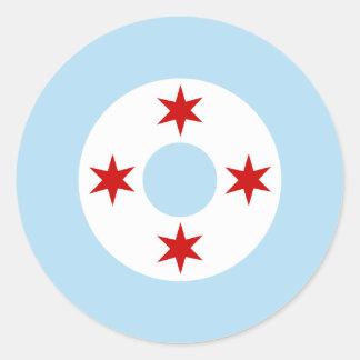 Chicago flygvapen (kämpevingen) Roundel Runt Klistermärke