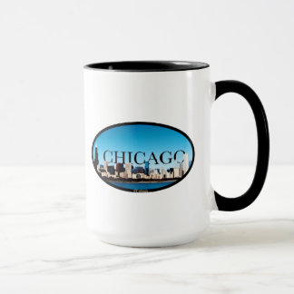 Chicago Illinois horisont med Dallas i himmlen Mugg