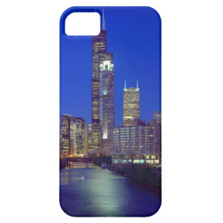 Chicago Illinois, horisont på natten med Chicago iPhone 5 Case-Mate Fodral