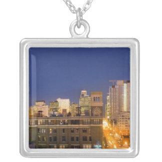 Chicago Illinois, horisont som skjutas från Silverpläterat Halsband