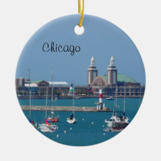 Chicago marinpir julgransprydnad keramik