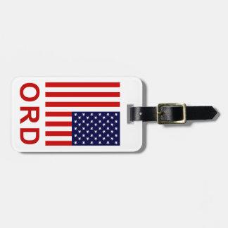 Chicago ORD bagagemärkre (tillfoga din kontakt Bagagebricka