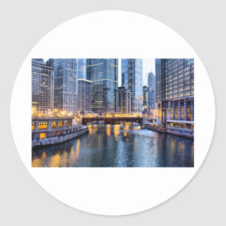 Chicago reflekterar runt klistermärke