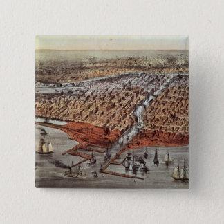 Chicago, som den var, c.1880 standard kanpp fyrkantig 5.1 cm