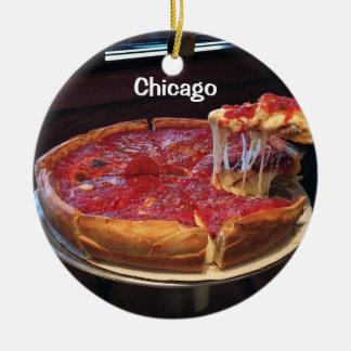 Chicago stilkarott julgransprydnad keramik